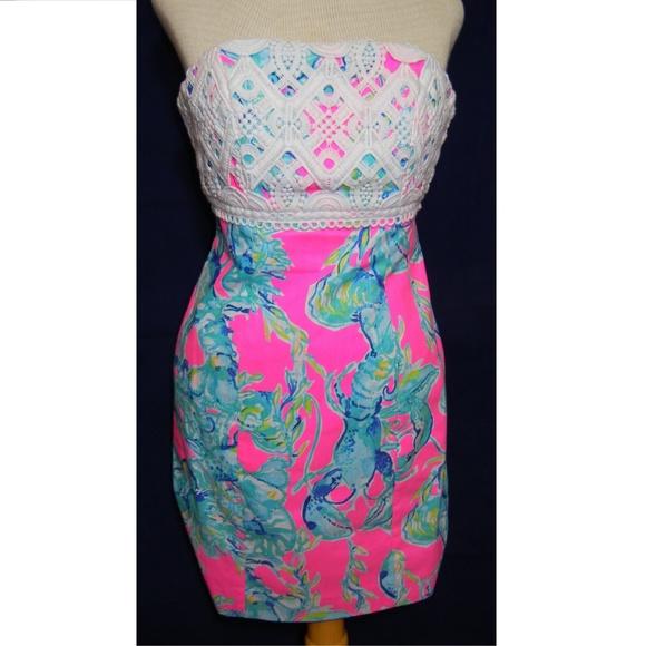 f3bf7cdc89d1e7 Lilly Pulitzer Dresses | Brynn Dress Lobsters In Love | Poshmark